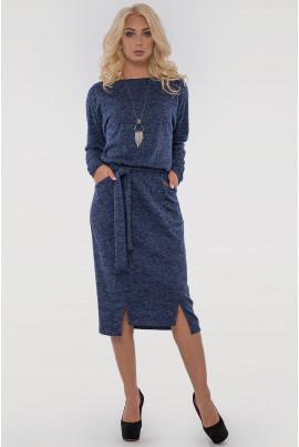 Синє оригінальне плаття-футляр