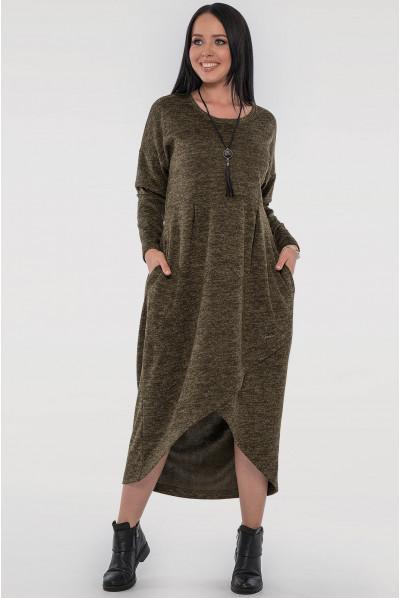 Стильне плаття кольору хакі