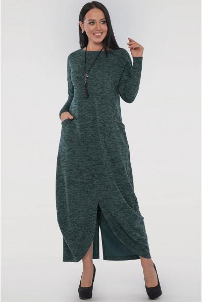 Зелене модне плаття з кишенями