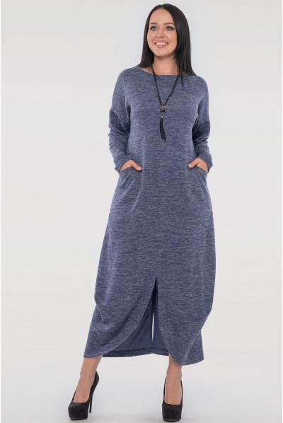 Синє оригінальне довге плаття