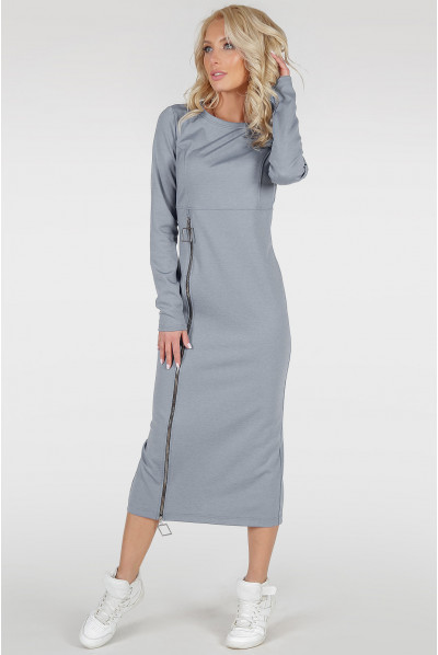 Сіре універсальне стильне плаття