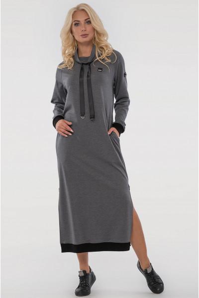 Сіре модне плаття в спортивному стилі