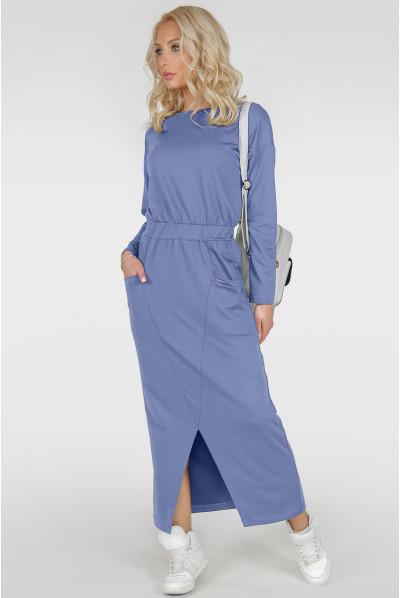 Блакитне спортивне плаття максі