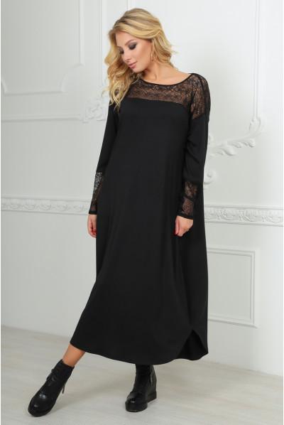 Чорне вишукане просторе плаття