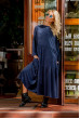Синє довге просторе плаття