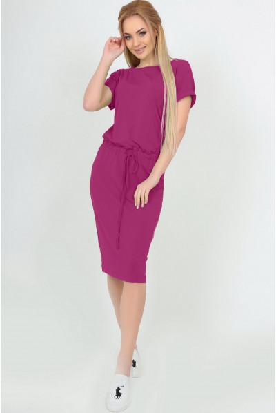 Малинове яскраве плаття міді
