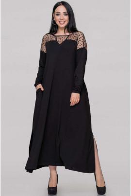 Чорна нарядна сукня великих розмірів