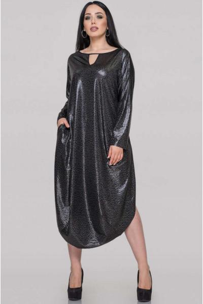 Осіннє нарядне плаття з леопардовим принтом