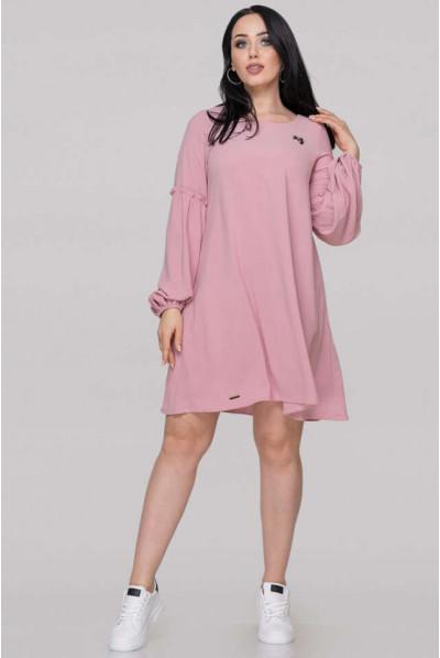 Рожеве романтичне плаття для повних жінок