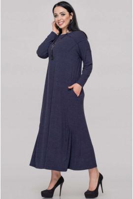 Синє повсякденне осіннє плаття
