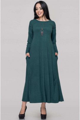 Зелене повсякденне плаття міді великих розмірів
