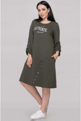 Трикотажне спортивне плаття кольору хакі