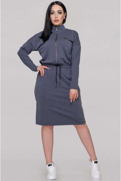 Оригінальне плаття джинсового кольору в спортивному стилі