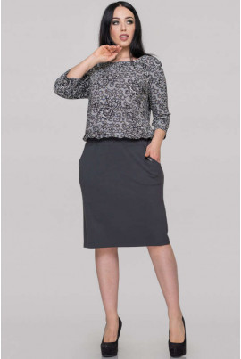 Сіре привабливе плаття великих розмірів