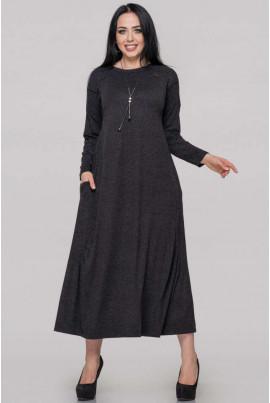 Темно-сіре плаття для жінок з апетитними формами