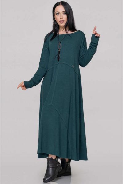 Зелене осіннє плаття для повних жінок