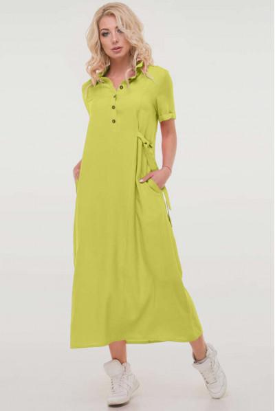 Салатове яскраве плаття міді для повних жінок