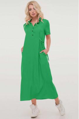 Зелена повсякденна легка сукня-сорочка