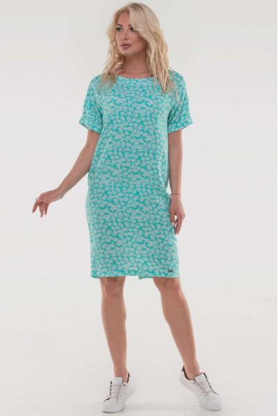 М'ятне чарівне плаття з ніжним флористичним принтом