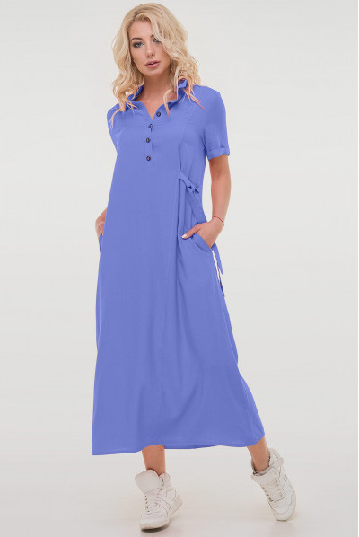 Оригінальне актуальне плаття міді джинсового кольору