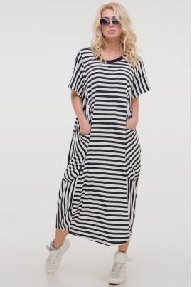 Чорно-біле дивовижне плаття міді