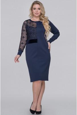 Синє нарядне плаття міді