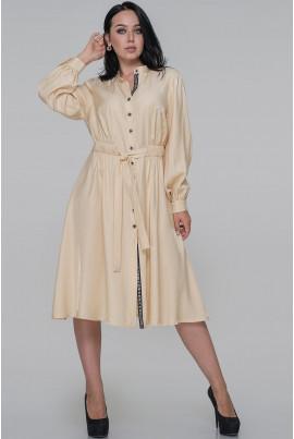 Бежеве оригінальне плаття-рубашка
