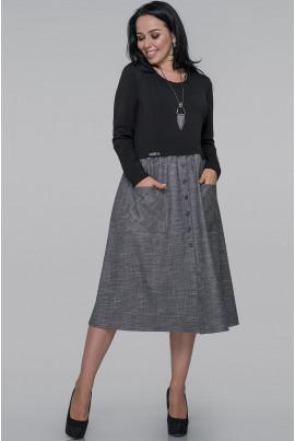 Чорне оригінальне плаття-мішок