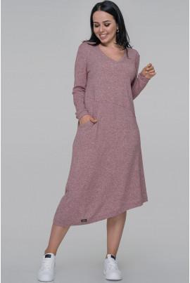 Фрезове жіночне плаття трапеція