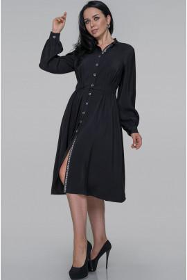 Чорне оригінальне плаття-рубашка