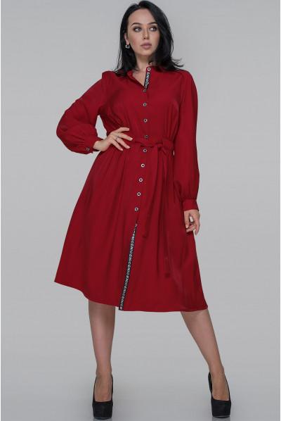 Червоне повсякденне плаття-рубашка