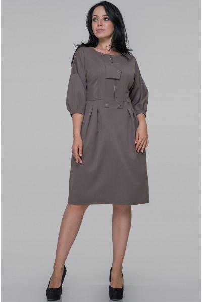 Сіро-оливкове вишукане плаття-футляр