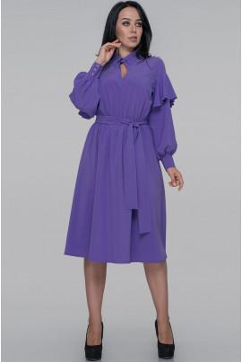 Бузкове витончене плаття з поясом