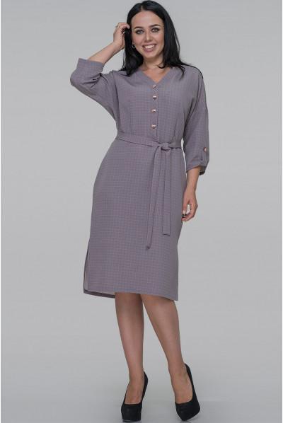 Сіро-бузкове ніжне плаття великих розмірів