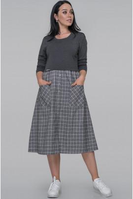 Сіре повсякденне плаття великих розмірів