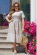 Льняне плаття великого розміру з пишною спідницею